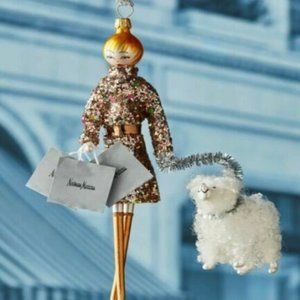 De Carlini Neiman Marcus Shopper Lady Ornament